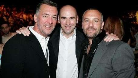 UFC owners, from left, Frank Fertitta III, Dana