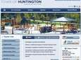 A screen grab of Huntington Town's new website.