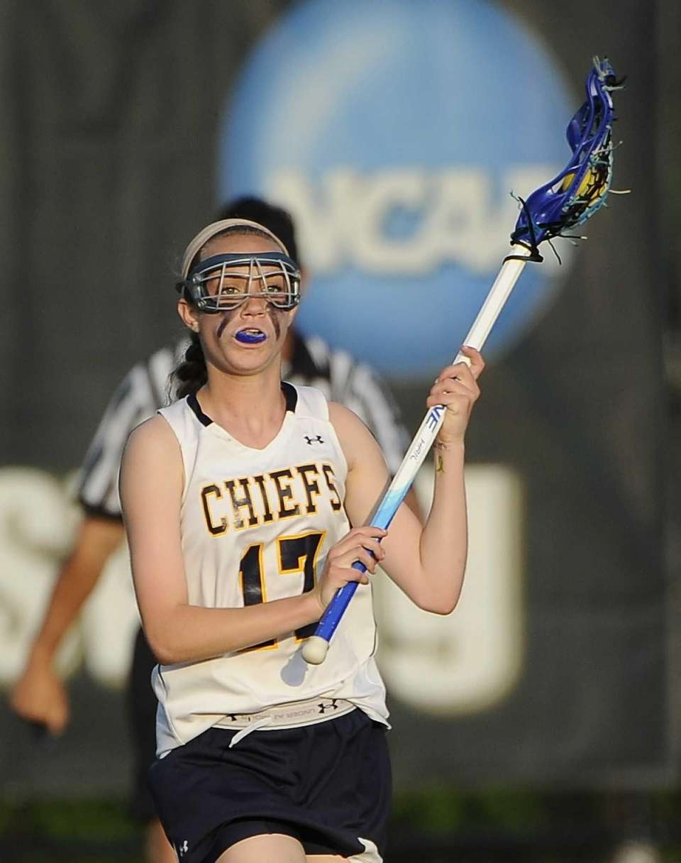 Massapequa midfielder Madeline Lee controls the ball against