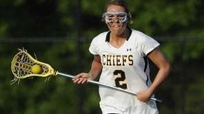 Massapequa midfielder Danielle Doherty controls the ball against
