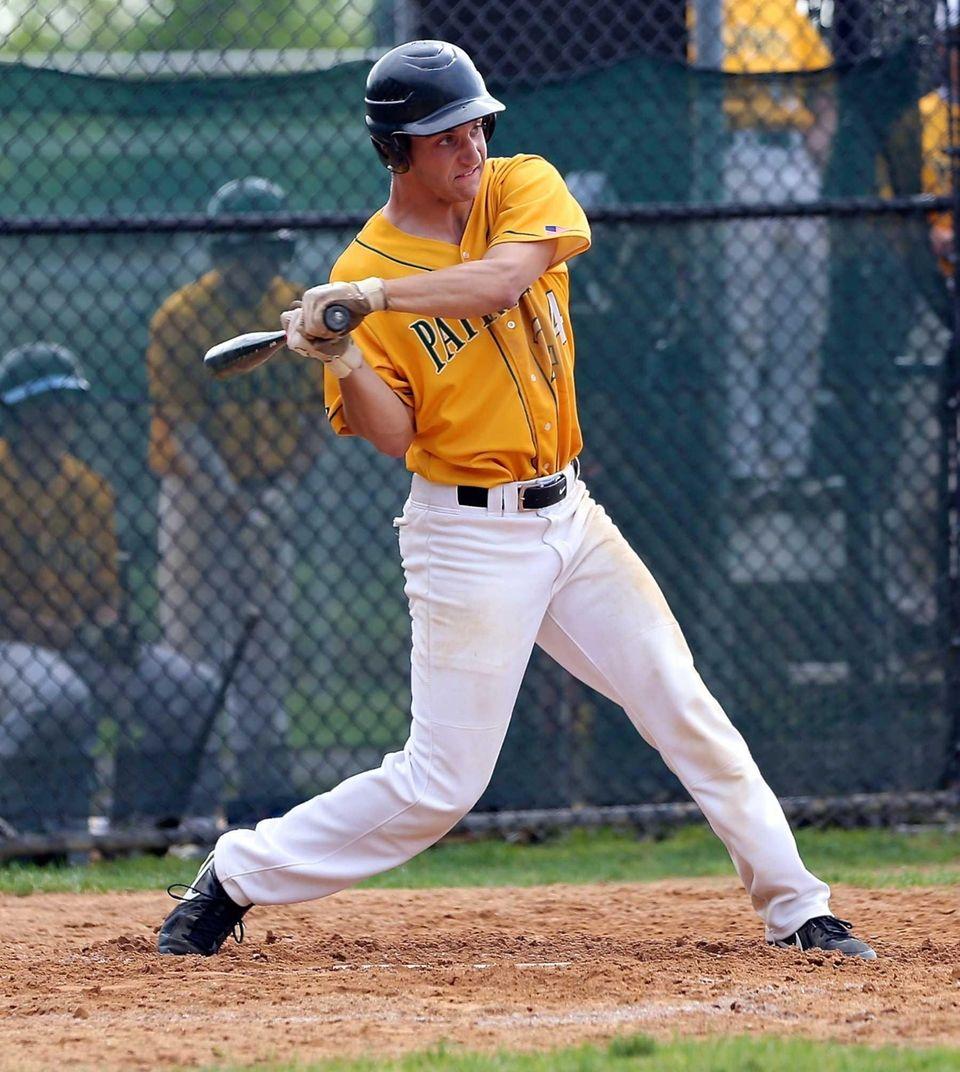 Ward Melville's Joseph Flynn hits a home run