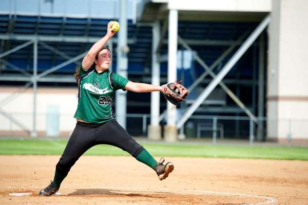 Locust Valley pitcher Lauren Sabatino (23) delivers a