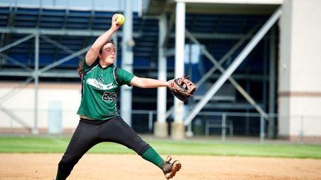 Locust Valley pitcher Lauren Sabatino (23) delivers a