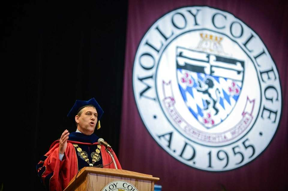 President of Molloy College Drew Bogner, Ph.D. speaks