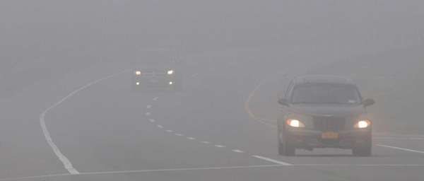 Foggy conditions Tuesday morning along County Road 101