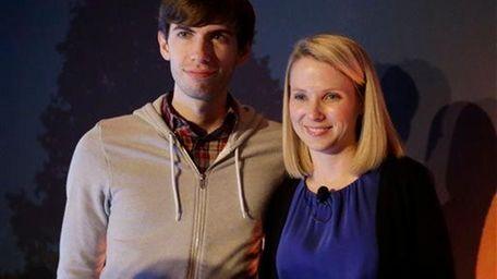 Tumblr chief executive David Karp and Yahoo chief