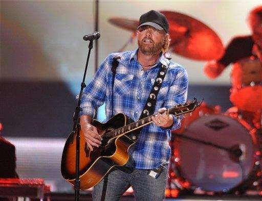Toby Keith performs at the 2012 CMT Music