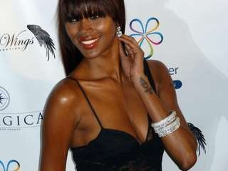 Supermodel Jessica White walks the red carpet at