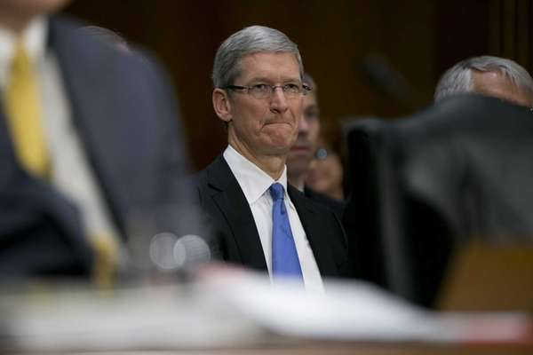 Tim Cook, chief executive officer of Apple Inc.,