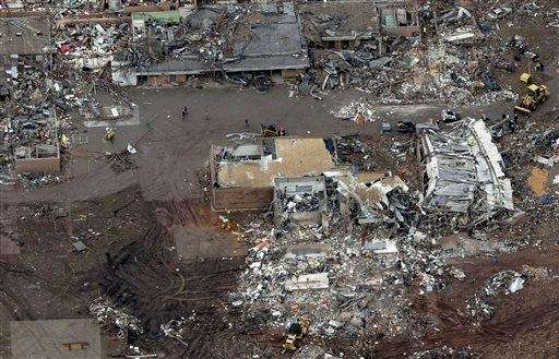 An aerial view of Briarwood Elementary that was