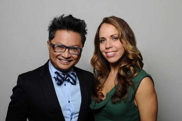 Mentors Alec Mapa and Lisette Bustamante in