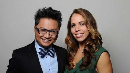 Mentors Alec Mapa and Lisette Bustamante in