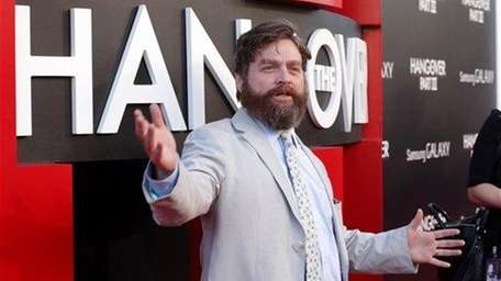 Zach Galifianakis arrives at the L.A. premiere of