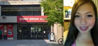 "Left, an image of the exterior at Stony Brook University. Right, Lola Tan, a Stony Brook student from <a href=""/topics//Elmhurst,_NY"">Elmhurst</a>, Queens, who pleaded not guilty to felony drug charges after authorities seized $35,000 in cash, marijuana, hallucinogens and drug paraphernalia from her dorm room, officials said. (May 21, 2013)"