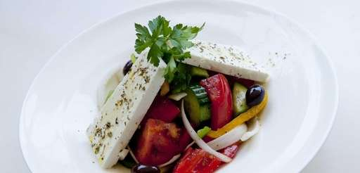 Kyma's very pure and traditional Greek salad with