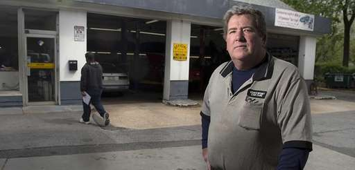 Brian Rathgaber at his auto repair shop in
