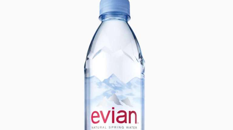 Evian's new water bottle, the product's first redesign