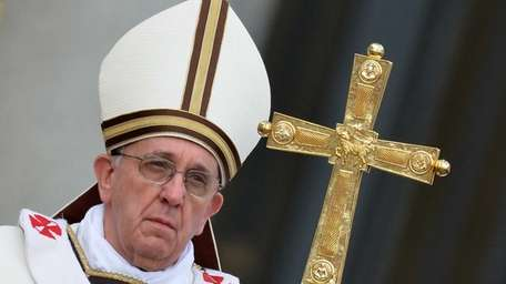 Pope Francis celebrates the Easter Mass at the