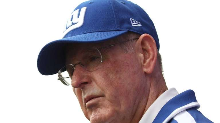 Tom Coughlin speaks to the media following OTAs