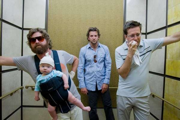 From left, Zach Galifianakis, Bradley Cooper and Ed