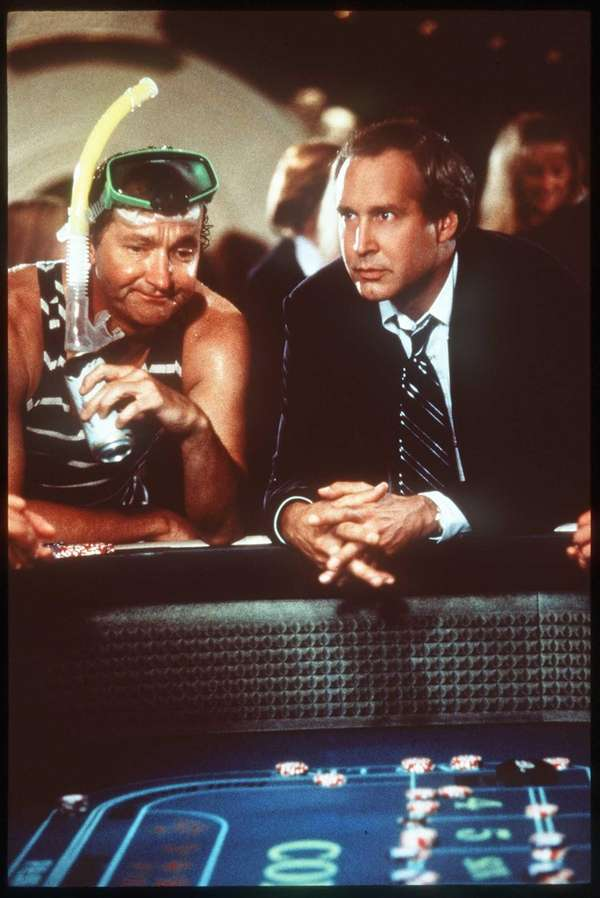From left, Randy Quaid and Chevy Chase star
