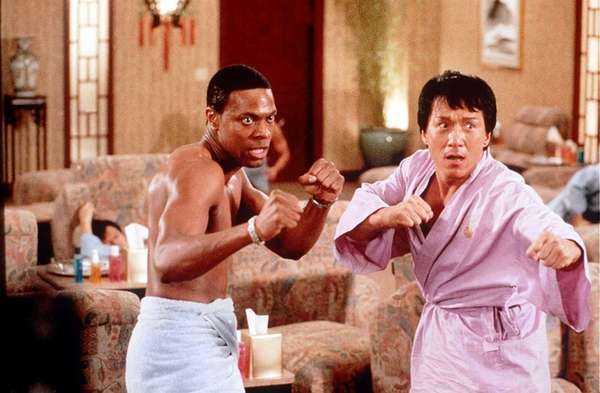 Chris Tucker and Jackie Chan as Detectives Carter