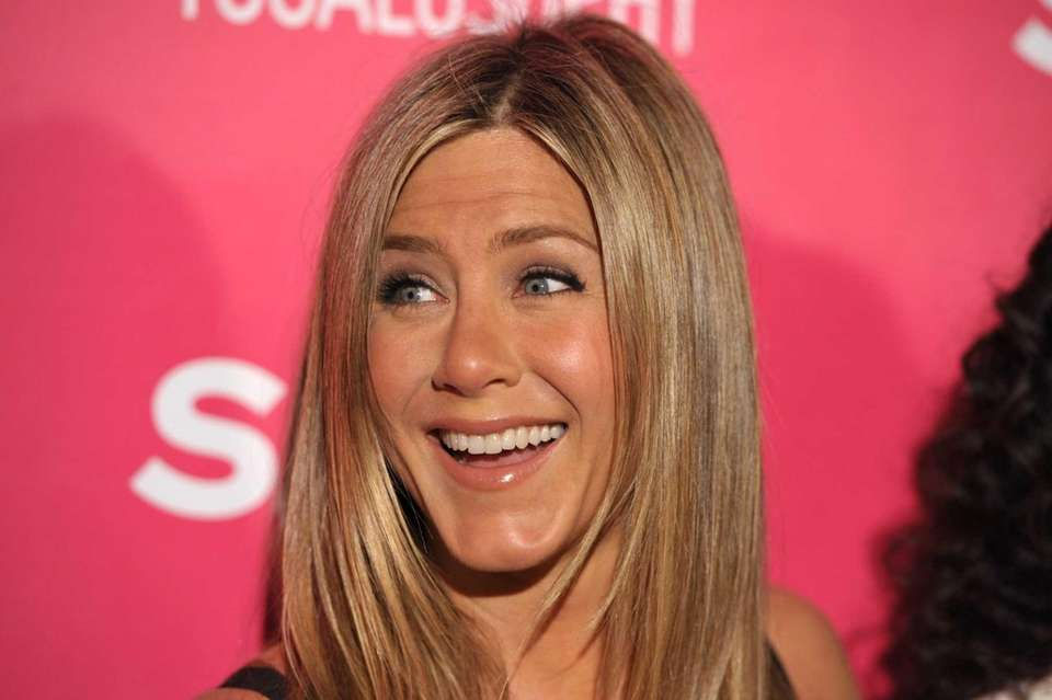 Jennifer Aniston arrives at the launch of Mandy