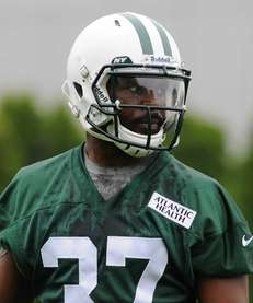 Jaiquawn Jarrett looks on during OTAs at the