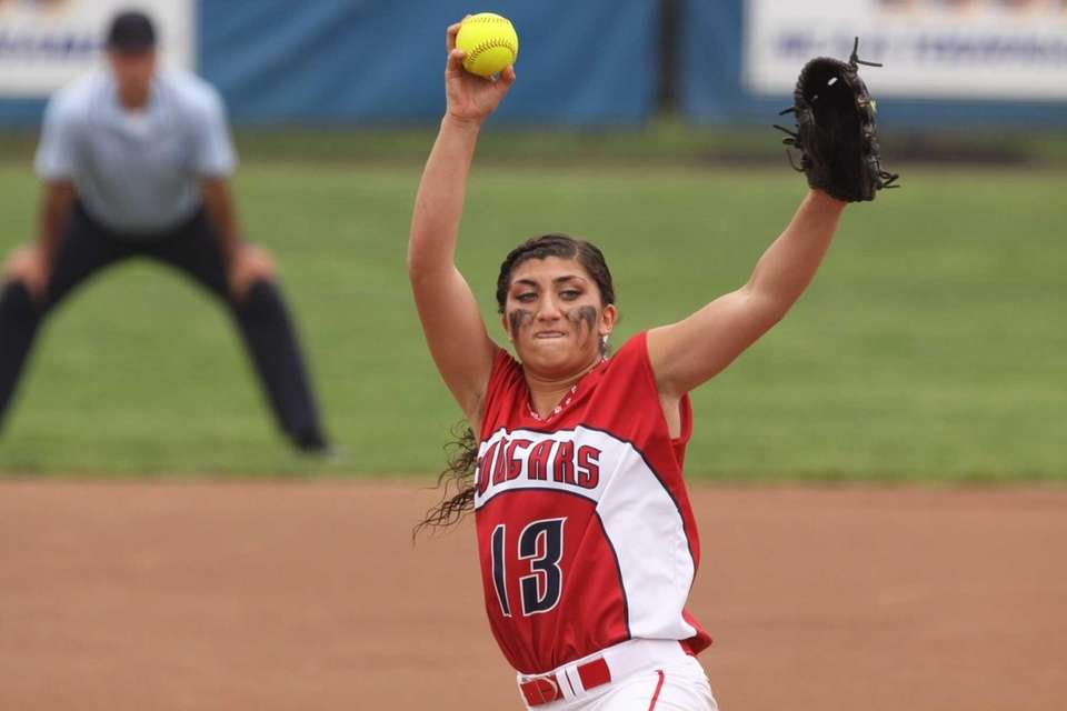 St. John the Baptist's Sofia Evangelista pitches against
