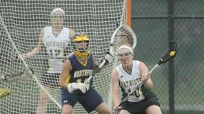 Ward Melville midfielder Emily Rogers-Healion steps before she