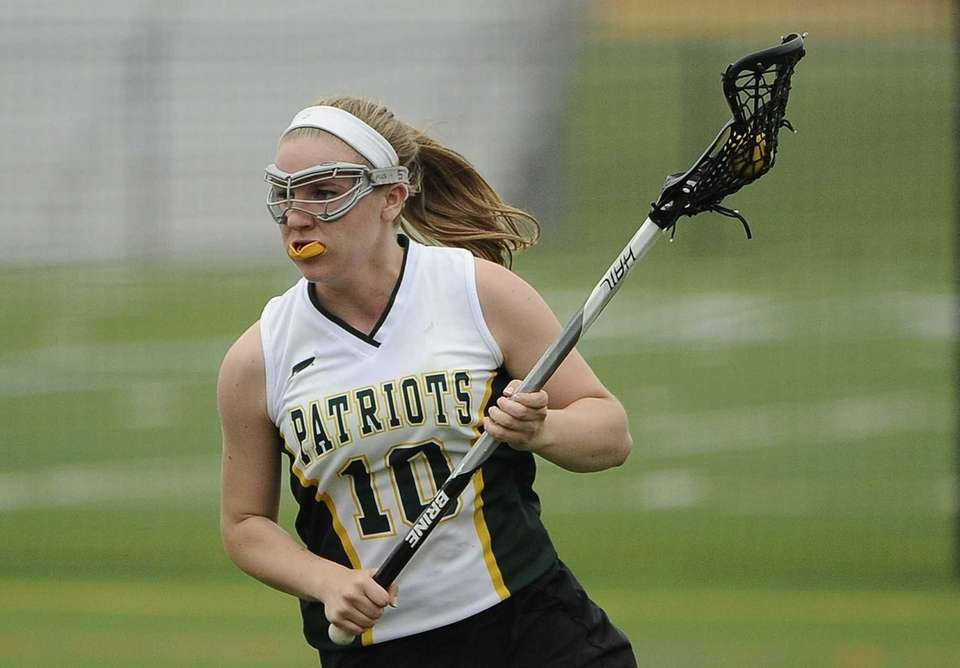 Ward Melville attacker Emily Rogers-Healion controls the ball