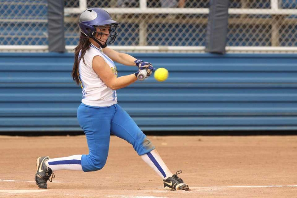 Kellenberg's Amy Quinn connects for an RBI hit