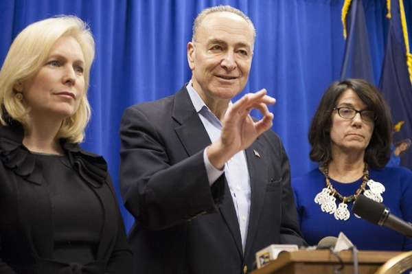 U.S. Sens. Kirsten Gillibrand and Charles Schumer are