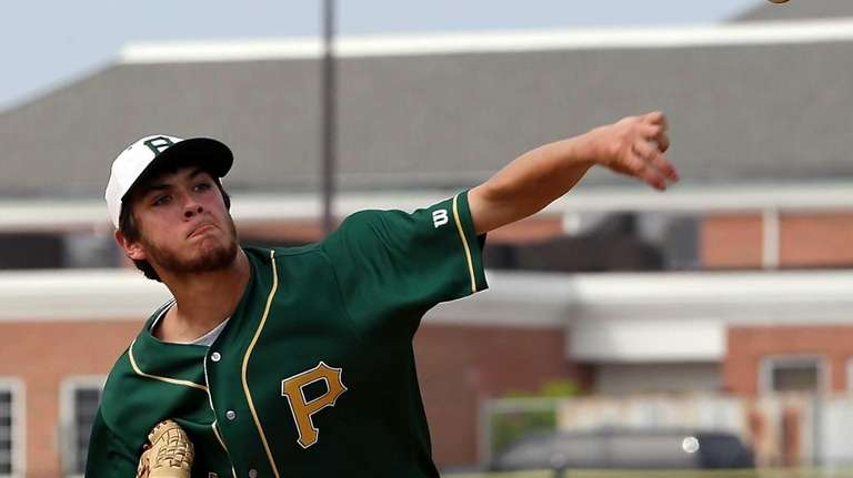 Ward Melville starting pitcher Anthony Kay delivers a