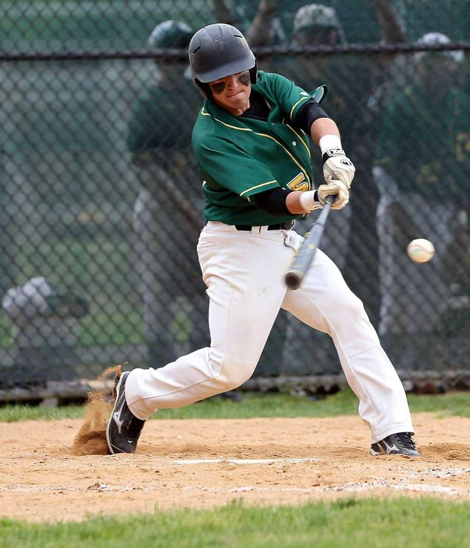 Ward Melville's Greg Coman connects for a single