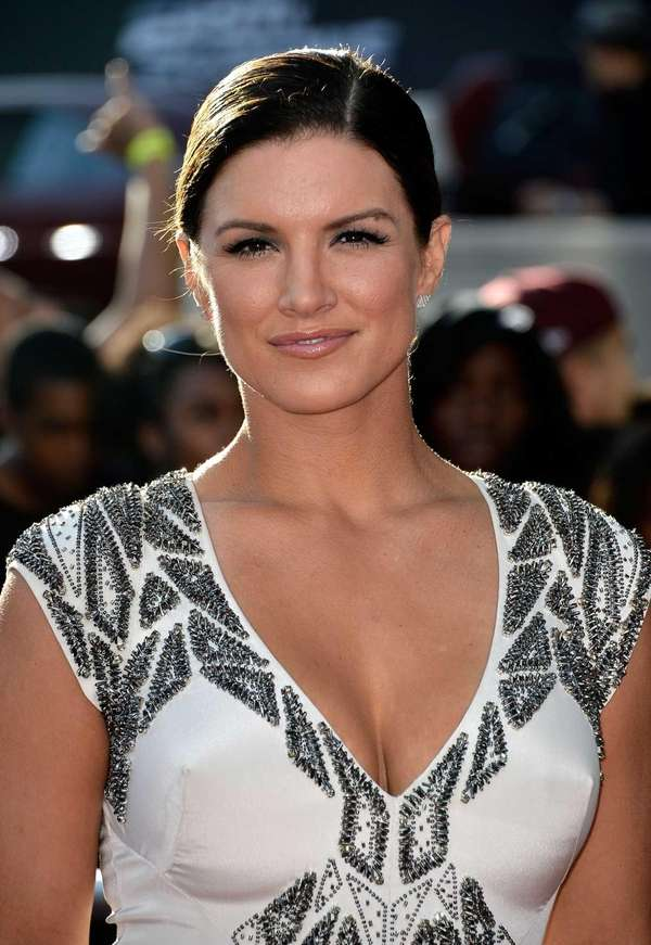 Actress Gina Carano arrives at the premiere Of