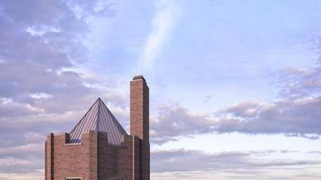 A rendering shows the rooftop deck of a