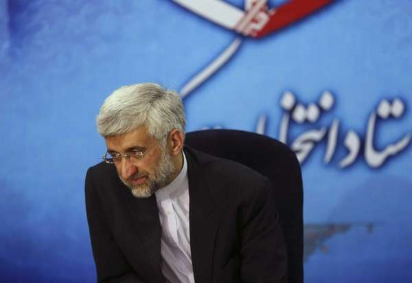 Iran's top nuclear negotiator Saeed Jalili registers his