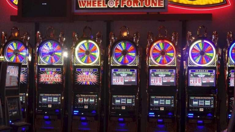 A video slot machine at the Resorts World