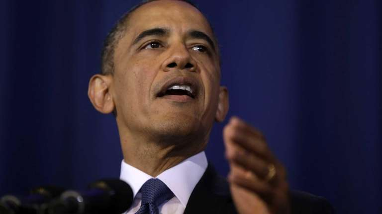 President Barack Obama talks about national security at