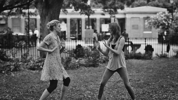 Greta Gerwig, left, as Frances and Mickey Sumner