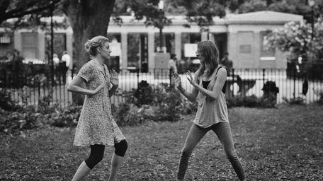 Greta Gerwig, left, as Frances and Mickey Sumner