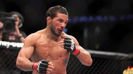 Dennis Bermudez is seen against Pablo Garza during