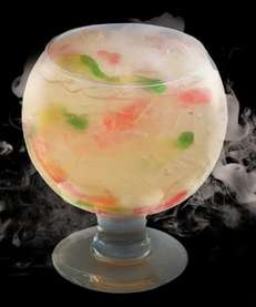 The White Gummi goblet, $36, a candy cocktail