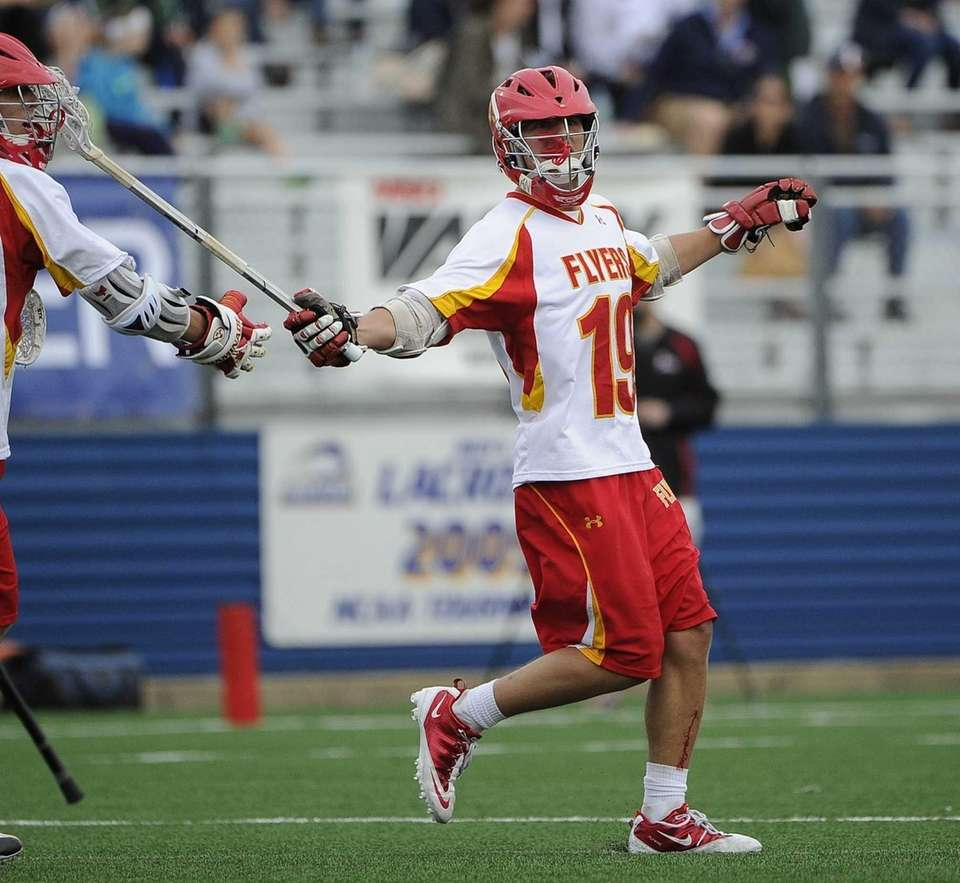 Chaminade attacker Ryan Lukacovic reacts after scoring against