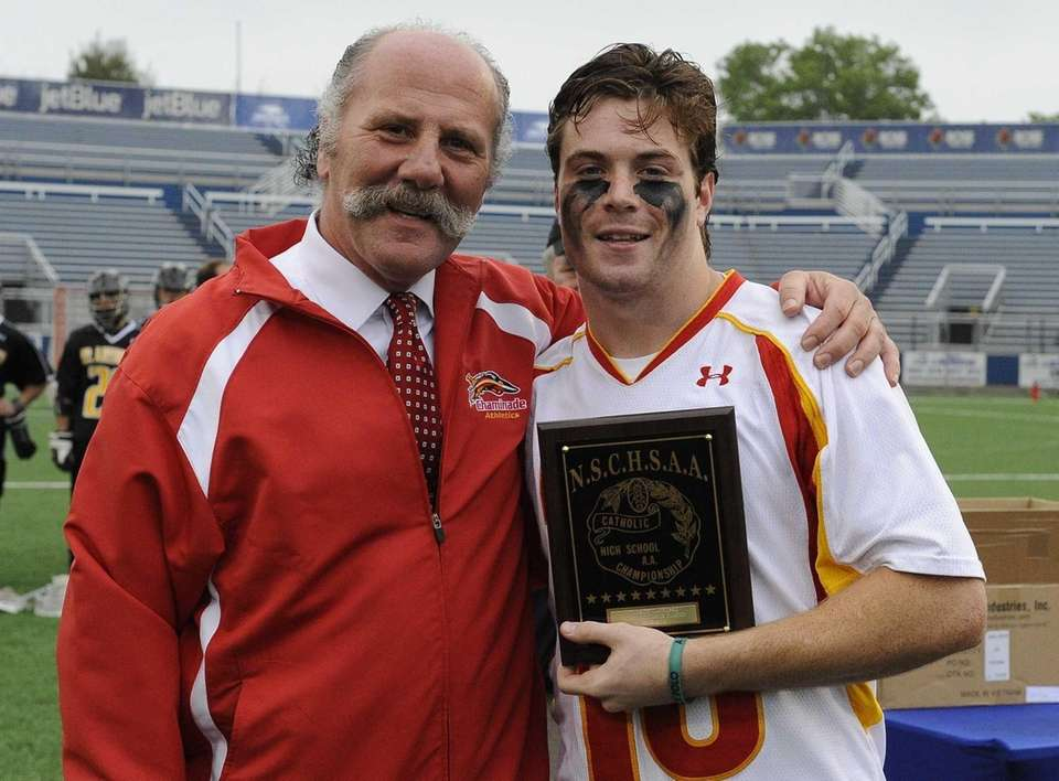 Chaminade goalie Danny Fowler poses with his MVP