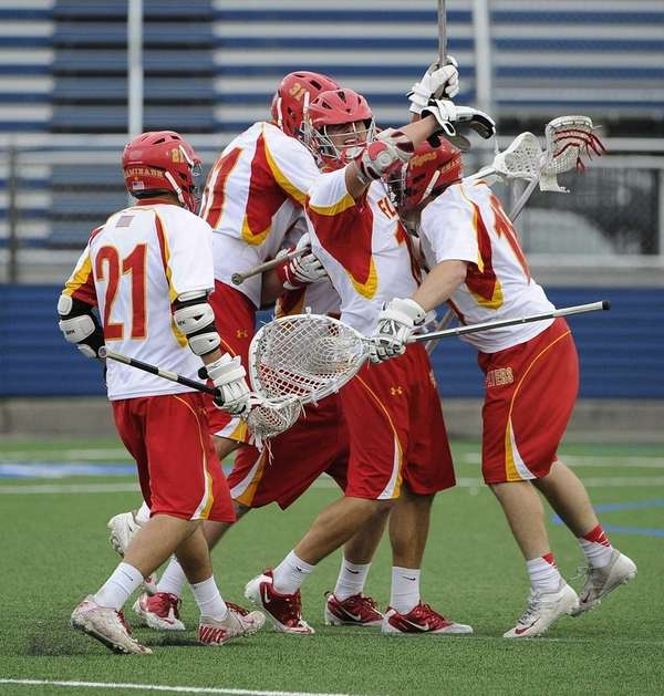 From left, Chaminade's Sean Cerrone, Brian Dunne, Tommy