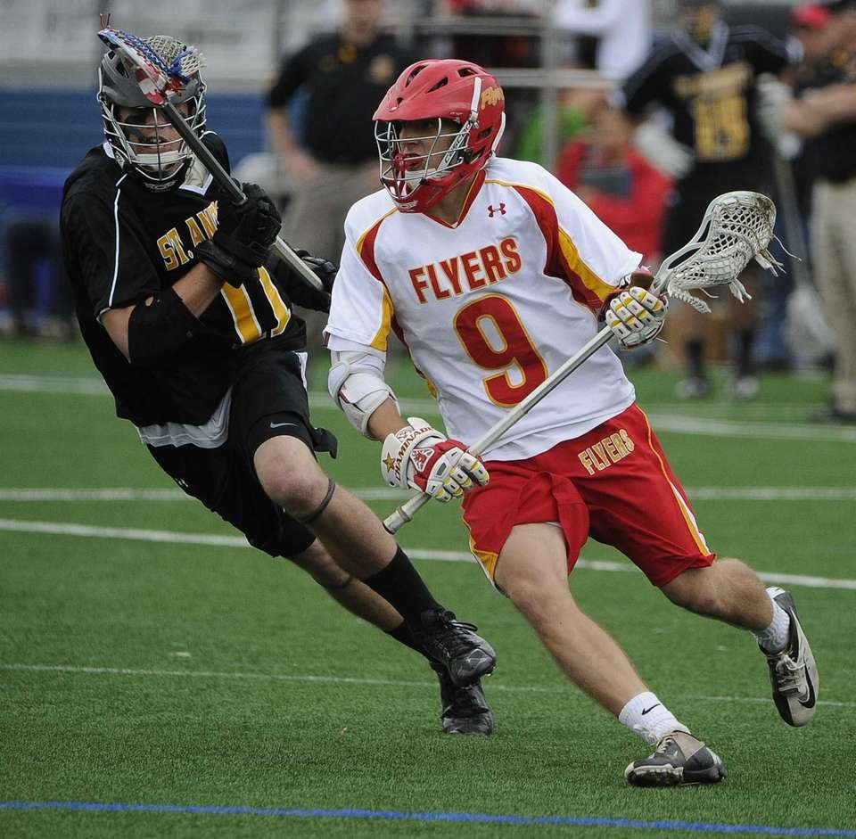 Chaminade attacker James Roberts drives against St. Anthony's