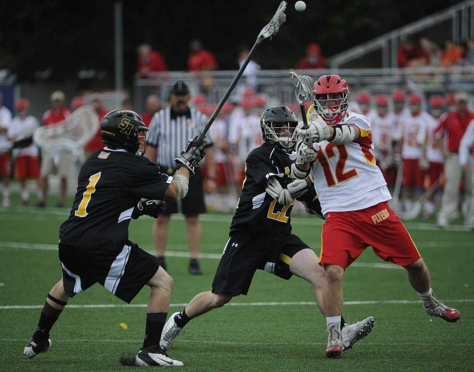 Chaminade midfielder Brian Pratt shoots and scores past