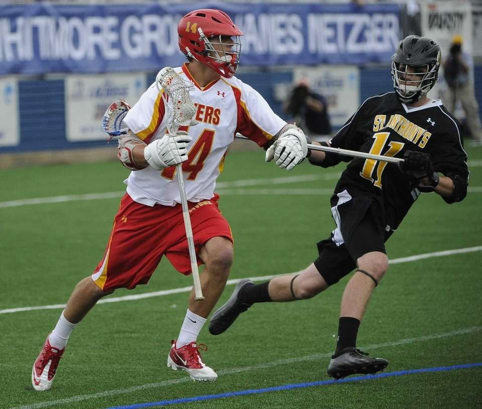 Chaminade midfielder Tommy Zenker drives against St. Anthony's